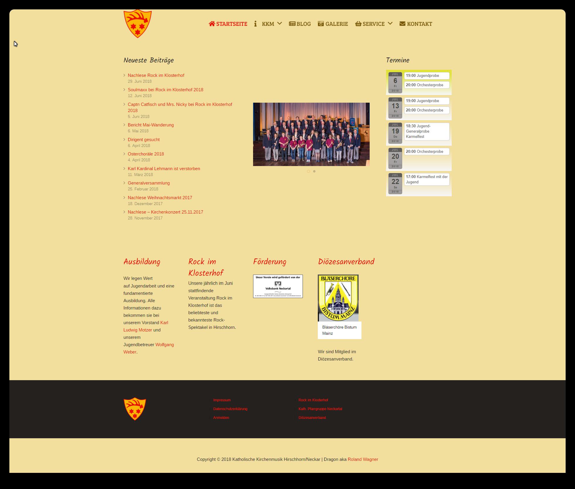 Homepage der Katholischen Kirchenmusik Hirschhorn/Neckar