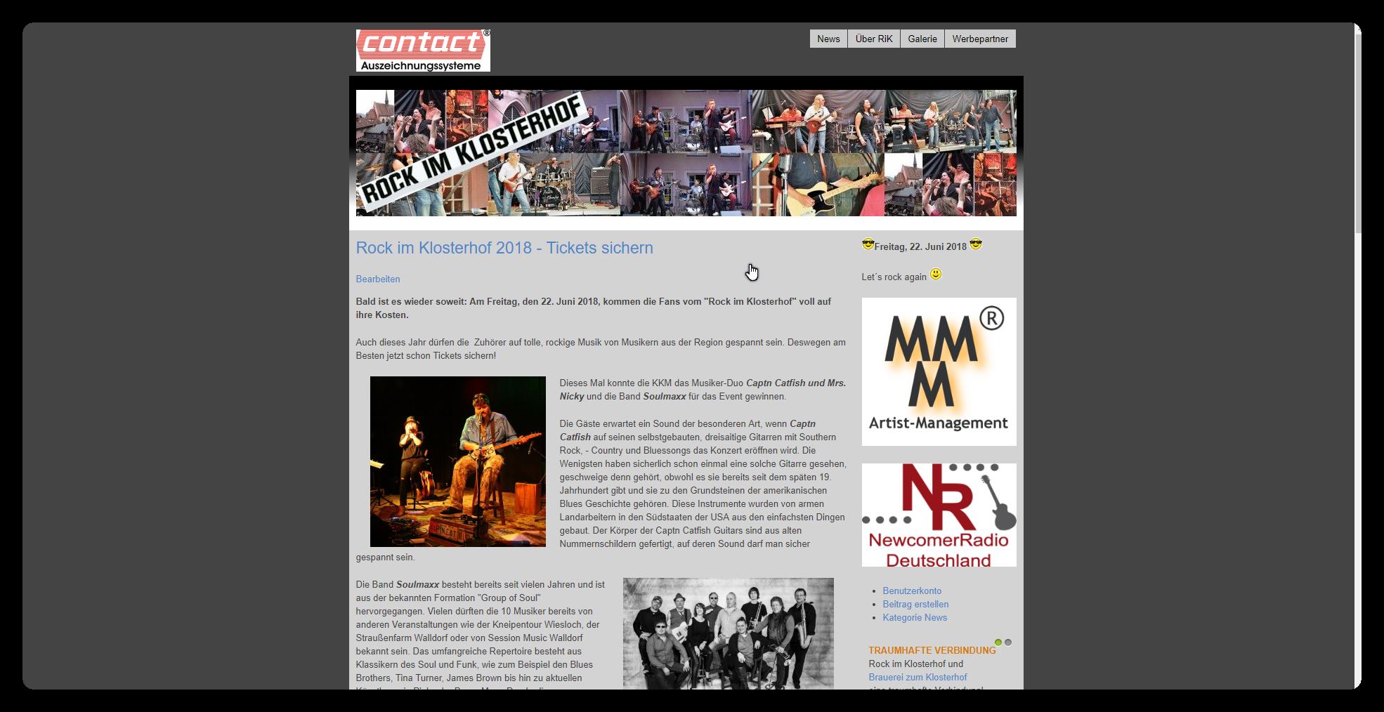 Homepage Rock im Klosterhof